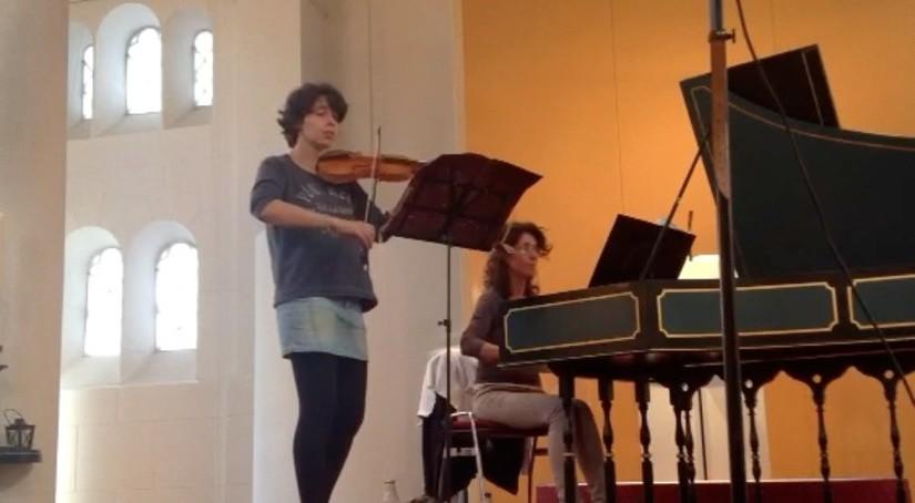 Amandine Beyer & Anna Fontana openden Baarnse concertserie seizoen 2012. En hoe!
