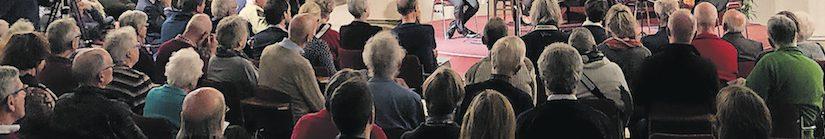 Het wordt almaar grijzer bij de concerten in de Baarnse Paaskerk…