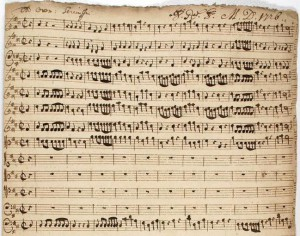 Handschrift van Graupner