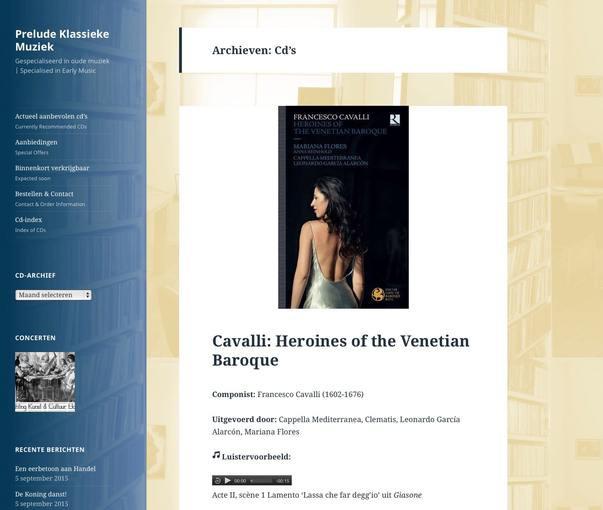 Vernieuwde website Prelude